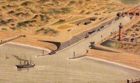 De pieren van IJmuiden eind 19e eeuw