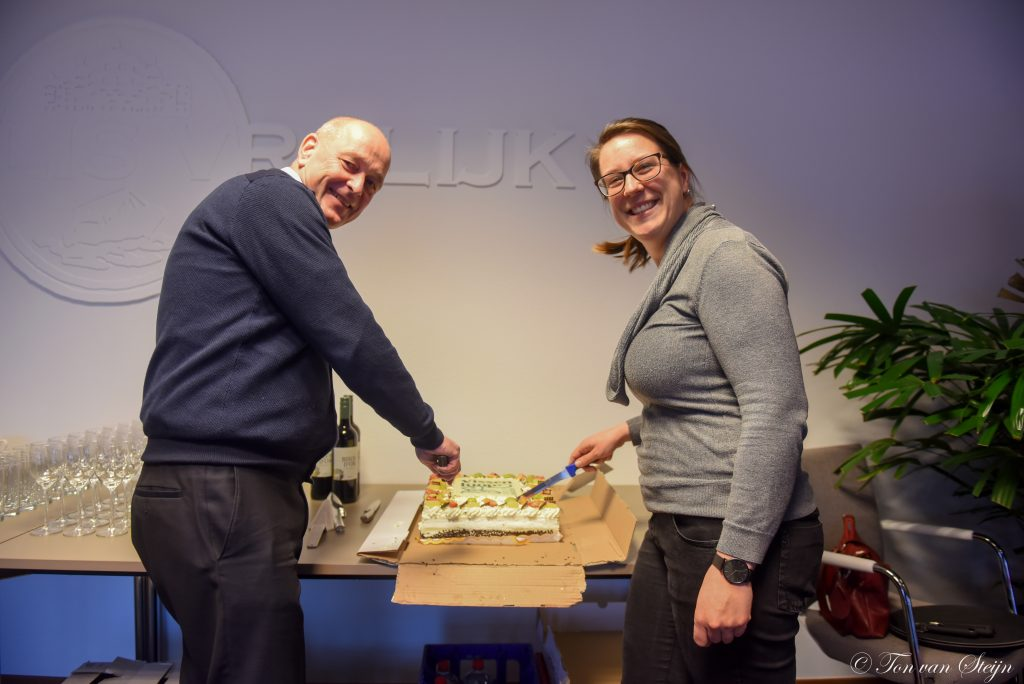 Cees Bruinink (logistiek manager) en Daniëlle de Nijs (communicatie)