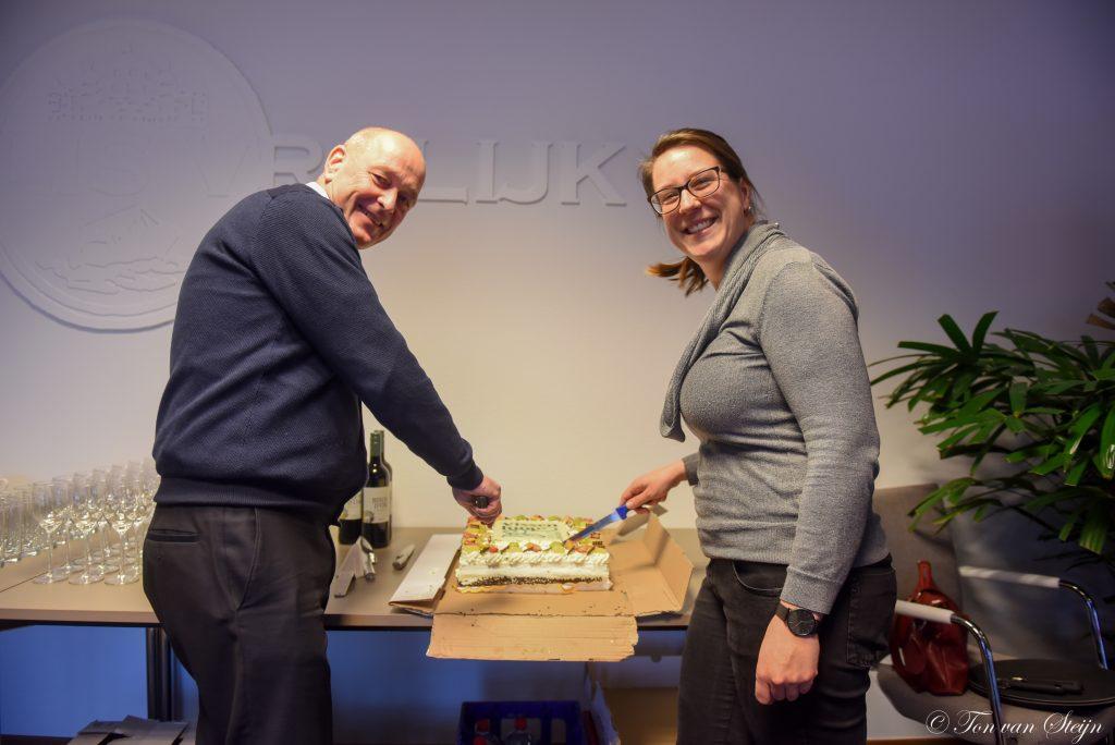 Cees Bruinink (logistiek manager) en Daniëlle de Nijs (communicatie)