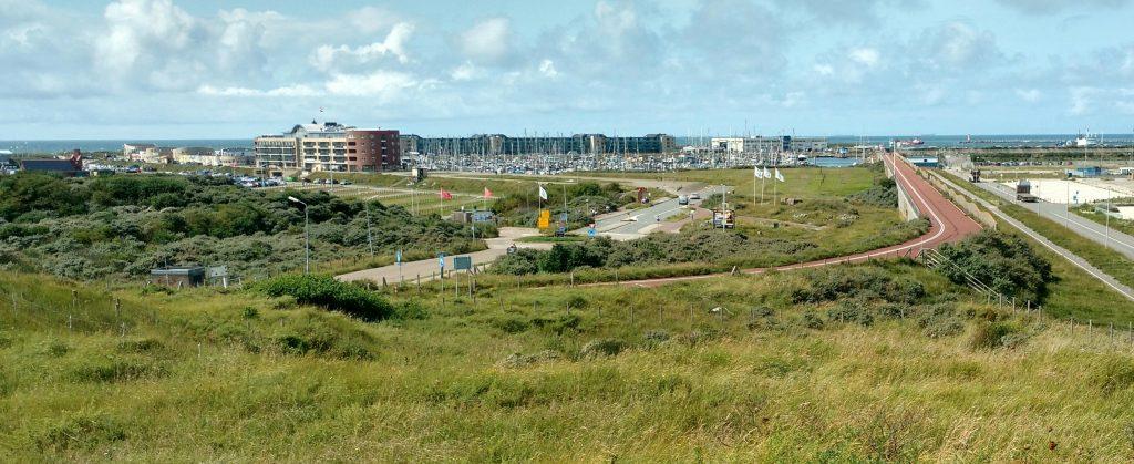 De winnende foto met een uitzicht van de kust van IJmuiden van de familie Schouwenburg